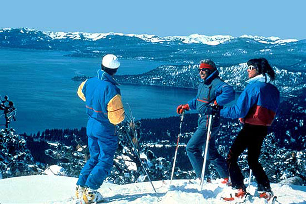 Skiing near Incline Village